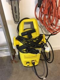 Chain saw and electric Pressure Washer