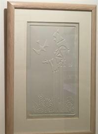 """Embossed """"St. Francis"""" print by artist Pasternak"""
