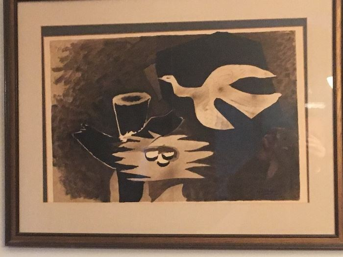 """""""Bird Returning to the Nest"""" 1956 Lithograph by Georges Braque (plate signed)"""