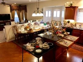 Kitchen is loaded with housewares, kitchenware, cooking items, serving pieces galore!