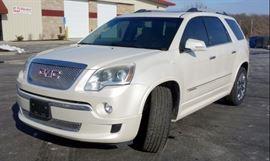 2012 GMC Acadia Denali AWD, V6, 3.6L, 112,674 Miles, Heat/Cool Seats, Dual Moon Roofs, Backup Camera, Rear DVD, Bluetooth, Nav, VIN# 1GKKVTED3CJ197708