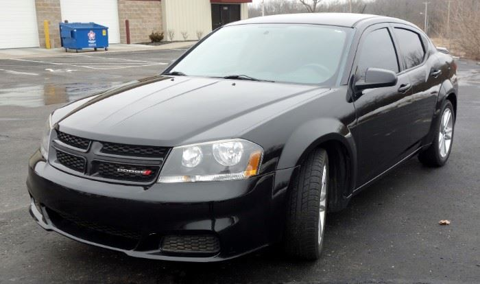2014 Dodge Avenger SE, 4 Cyl, 2.4L, 105,000 Miles, AM/FM/CD/Sirius Ready, Keyless Entry, Rear Spoiler, All Weather Mats, VIN# 1C3CDZAB1EN225256