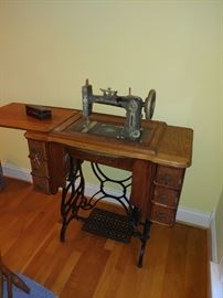 Refinished Antique Sewing Machine