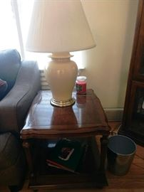 End Table with Yellow Table Lamp (there is a pair of these)
