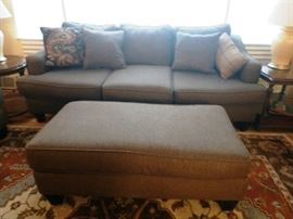 Couch and Ottoman (Fusion Furniture, Inc. Made in USA)