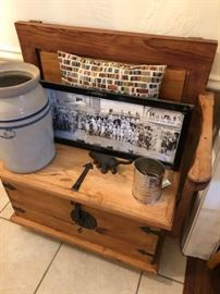 Entryway Bench with 1922 Photo