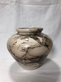 Horse Hair Pottery Signed