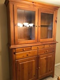 Kincaid Furniture Co. Lighted Hutch and Buffet