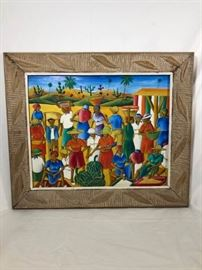 Louines Mentor Haitian Artwork Signed