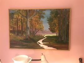 Signed Landscape Oil Painting ~ Westejo '74
