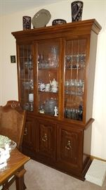 Broyhill China Cabinet & Contents