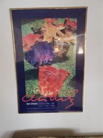 Dale Chihuly framed poster