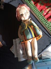 Beautiful felt doll from Germany around 1930s.