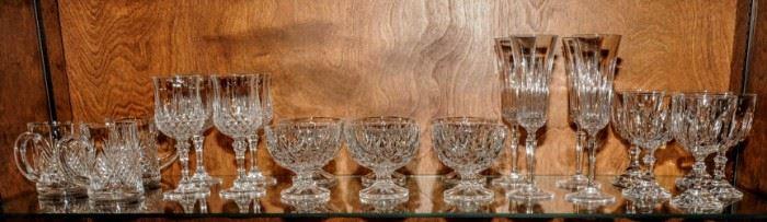 SELECTION OF GLASS STEMWARE