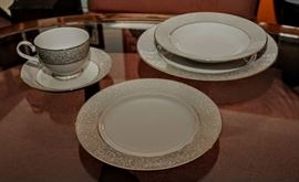 "MIKASA ""PARCHMENT"" DINNERWARE ~ SERVICE FOR 12"