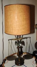 ONE OF TWO BALANCE TABLE LAMPS