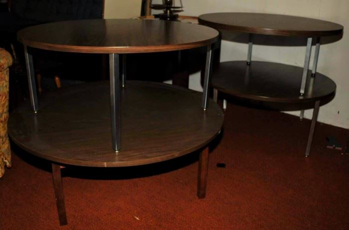 MID-CENTURY MODERN ROUND LOW TABLES