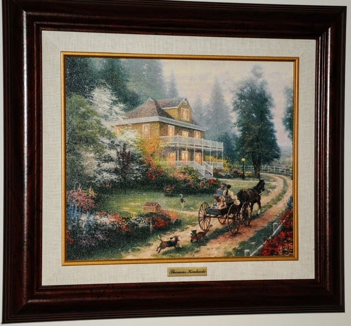 ONE OF TWO KINCADE  FRAMED PRINTS