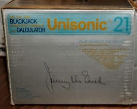 UNISONIC 21 BLACKJACK CALCULATOR ~ JIMMY THE GREEK