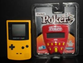 RADICA POCKET POKER DRAW DEUCES HANDHELD ELECTRONIC GAME MIB  20 Nintendo Game Boy Color Launch Edition Kiwi Handheld System