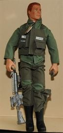 "G I JOE USAF ""ACE"" SCAR FACE ~ FLOCKED HAIR 12"" IN UNIFORM"