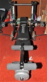 PROFESSIONAL WEIGHT BENCH WITH WEIGHTS