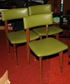 3 OF 8 MID-CENTURY CHAIRS