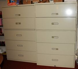 2 SETS OF HORIZONTAL FILE CABINETS