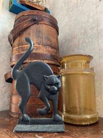Black Cat Cast Iron Doorstop