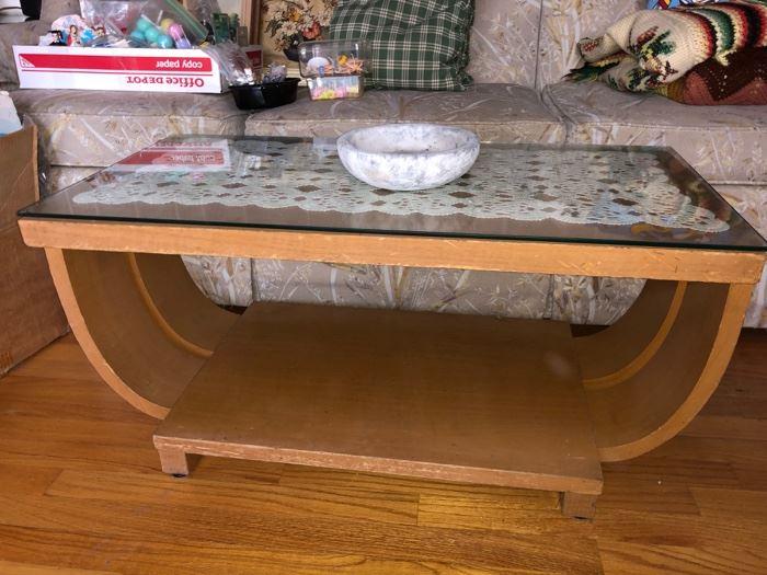 1930's Art Deco Brown Saltman coffee table