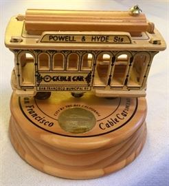 San Francisco Cable Car Music Box