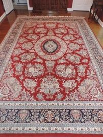 VERY FINE Hand-Woven Dining Room Size Persian Carpet in PRISTINE CONDITION !