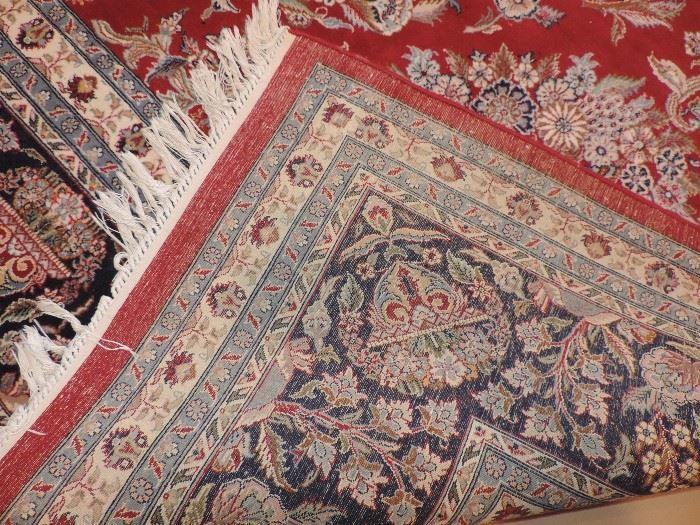 backside edge of Dining Room Carpet