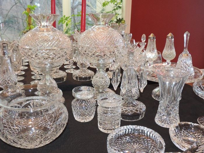 WATERFORD … including lamps, vases, bowls …