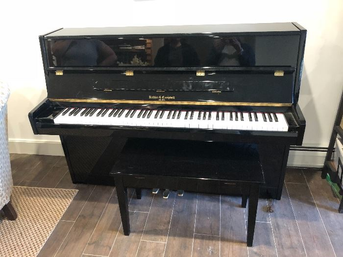 KOHLER & CAMPBELL UPRIGHT PIANO MAY BE SEEN IMMEDIATELY BY APPOINTMENT.