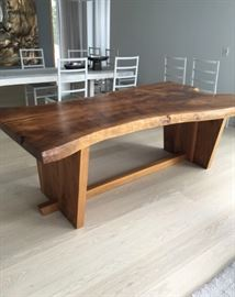 LIVE EDGE DINING TABLE.  MAY BE SEEN IMMEDIATELY BY APPOINTMENT.