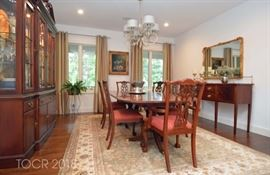 ETHAN ALLEN DINING ROOM SET MAY BE SEEN IMMEDIATELY BY APPOINTMENT.