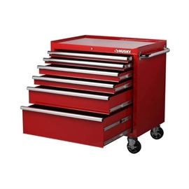 Husky 36 In. W 24.5 In.Bottom cabinet red
