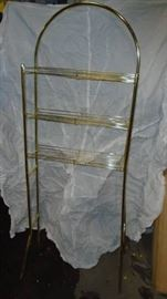 Brass Plated Free Standing Over Commode 3 Tier She ...