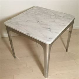 Lot 015 Ink & Ivy Carrera Marble End Table