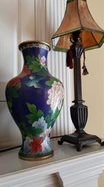 Cloisonne vases