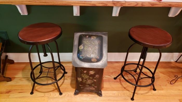 Vintage coal bin