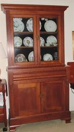 1800'S CHERRY STEP BACK CUPBOARD