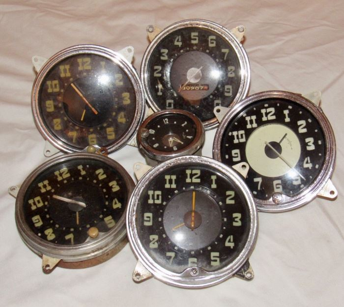 1940'S & 50'S CAR CLOCKS
