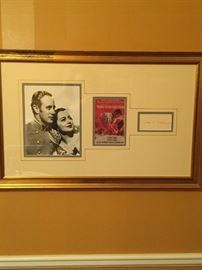 Authenticated Gone With The Wind  artwork signed by Olivia DeHaviland