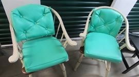 Two Chairs with Teal Cushions https://ctbids.com/#!/description/share/102124
