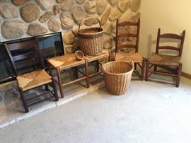 Antique Rush Slipper Chairs and More