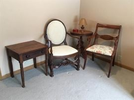 Vintage Chairs and Tables