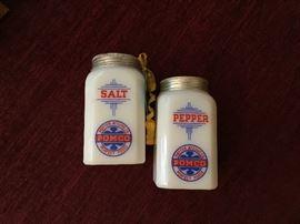 Vintage milk glass salt and pepper shaker