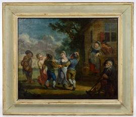 After Adriaen Jansz van Ostade Dutch 1610 1685 Oil on Canvas